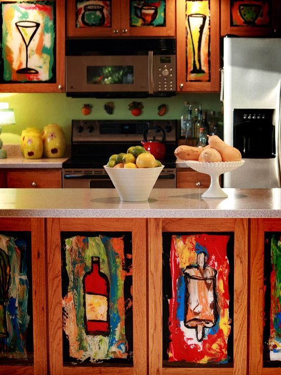 Kitchen Cabinet Stencil Paint | Full Home