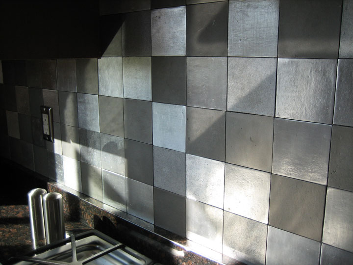 Kitchen Tiles Designs Delectable Of Kitchen Backsplash Metal Tiles Photo