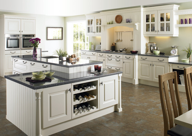 white kitchen cabinets looks bigger - White Kitchen Cabinets