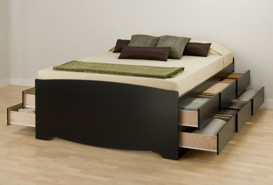 Prepac Sonoma Tall Queen Platform Storage Bed | Full Home